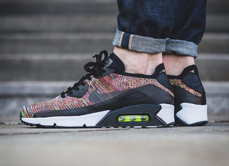 Nike Air Max 90 Ultra 2.0 Flyknit – Black/Bright Crimson-Paramount Blue-