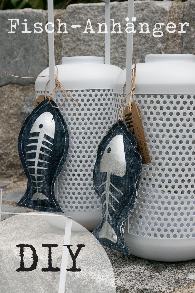 DIY Fischanhänger Jeans Upcycling