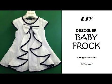 bbad33f7abe DIY Designer BABY FROCK cutting and Stitching full tutorial  PN z World -