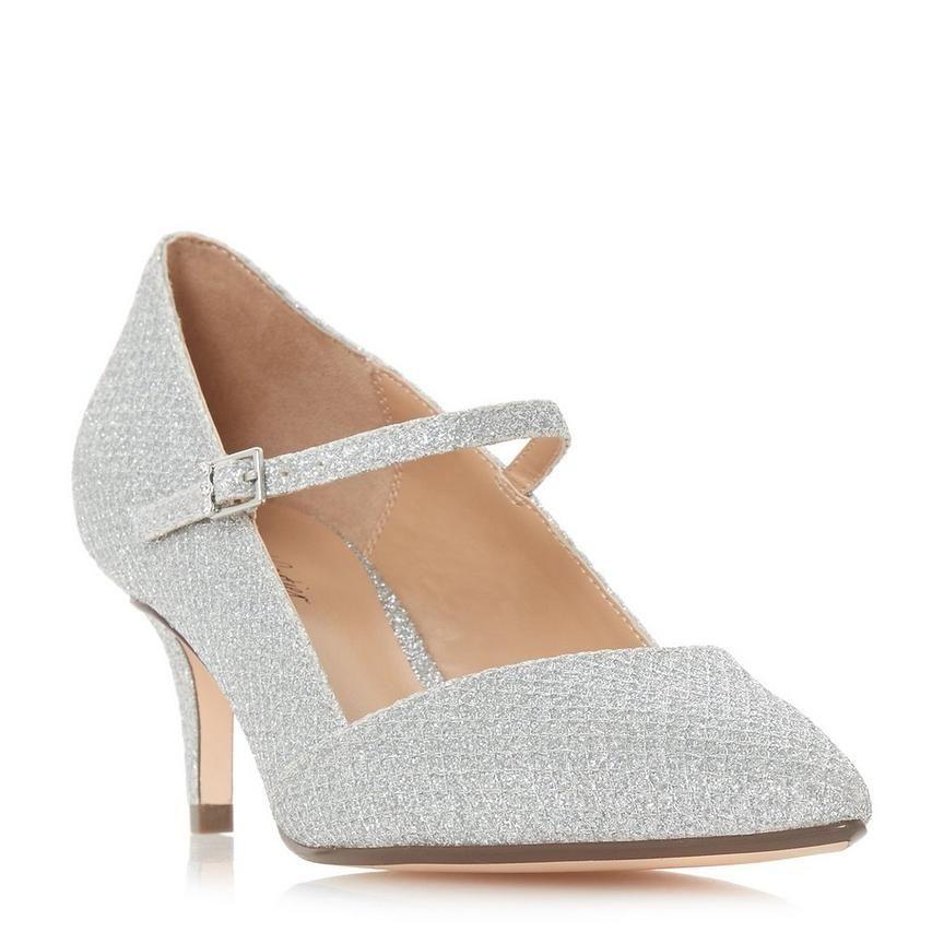 AUDREY - Sparkly Mid Heel Court Shoe