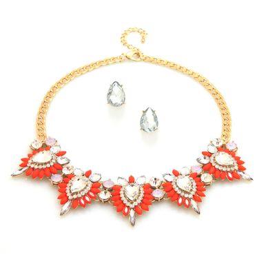 Fire & Ice Necklace Set - Lipstick Rose