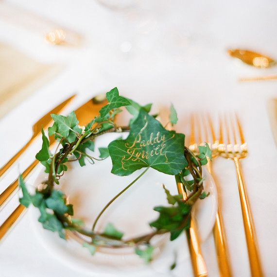 Wedding Ideas With A Difference: Table Cards And Place Cards: What's The Difference
