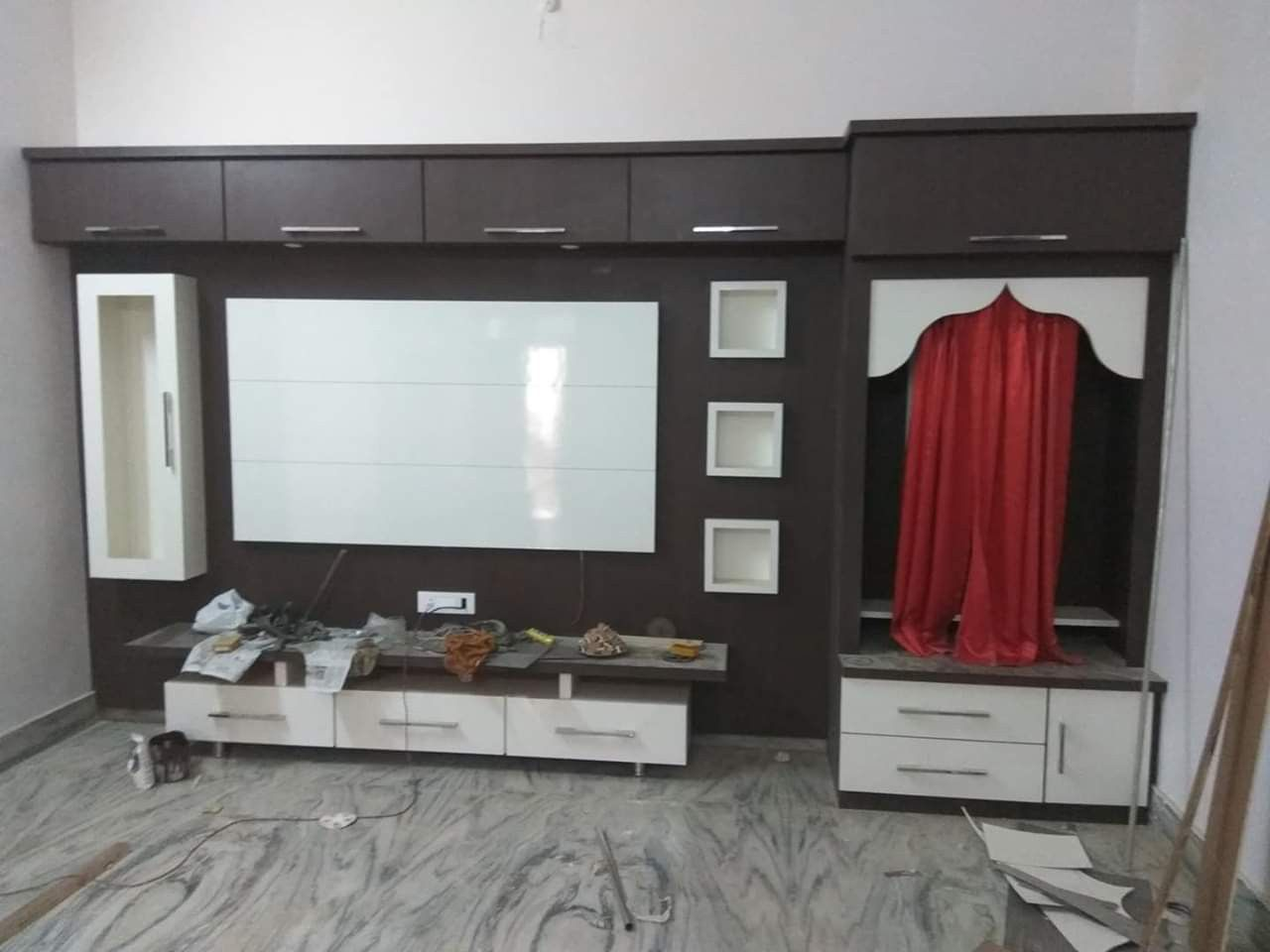 Living Room Partition Design With Tv