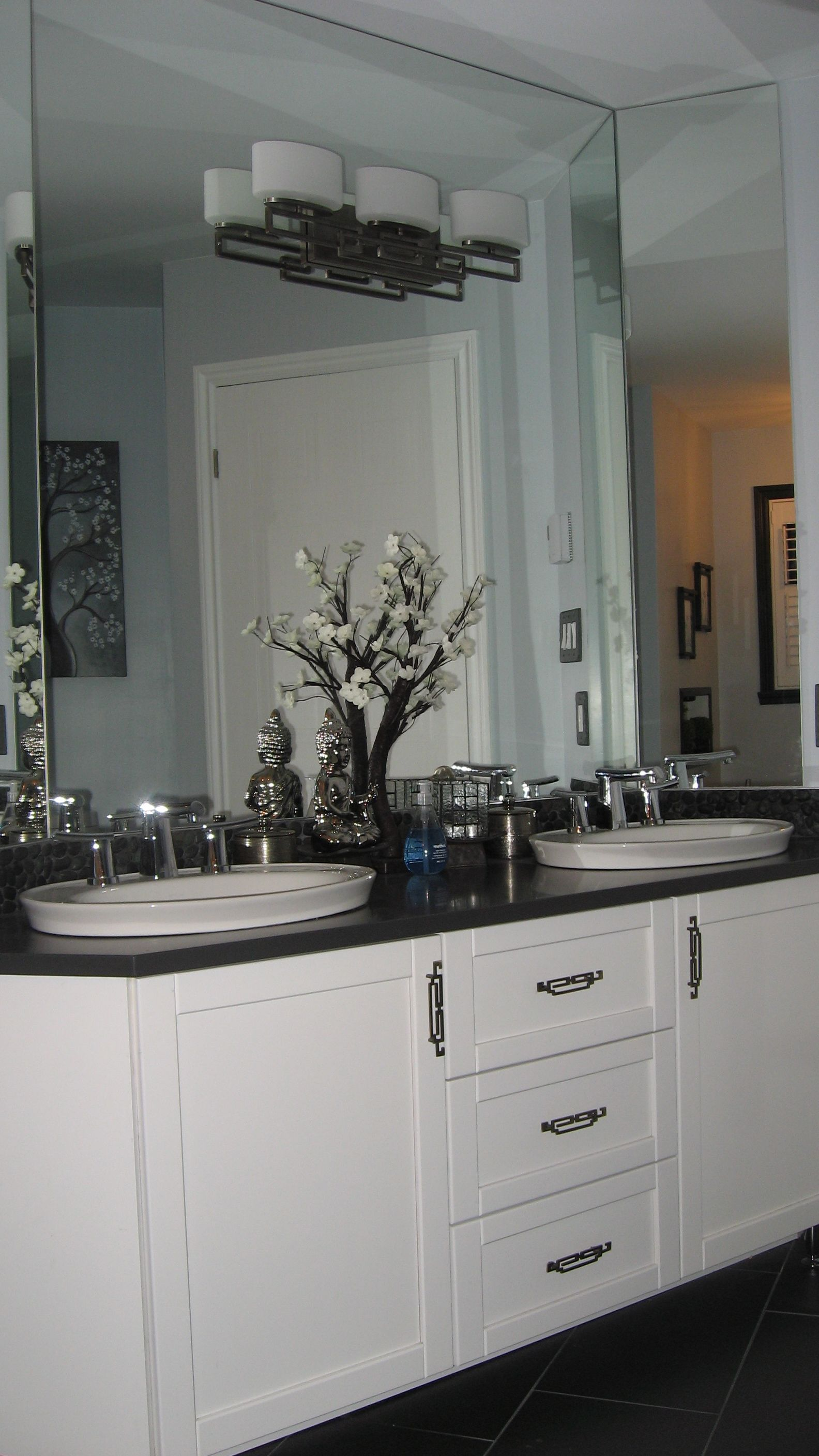 My Zen Bathroom! Kohler Serif sinks, American Standard Green Tea ...