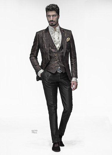 ONGala 1122 - Wedding Suits with Brown Brocade Jacket   Venetian ...