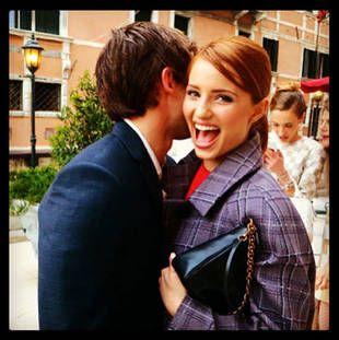 LOVE the red hair!! Dianna Agron and Boyfriend Christian ...
