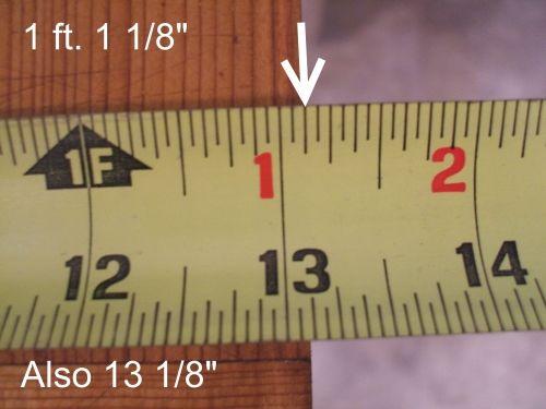 How To Read A Tape Measure Tape Measure Tricks Tape Reading Tape Measure