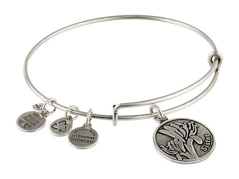 Alex And Ani Sister Charm Bangle Rafaelian Silver Finish Idea For Mice S Bracelet