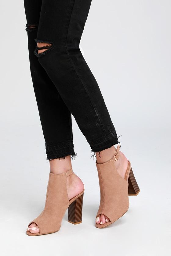 dressy peep toe booties