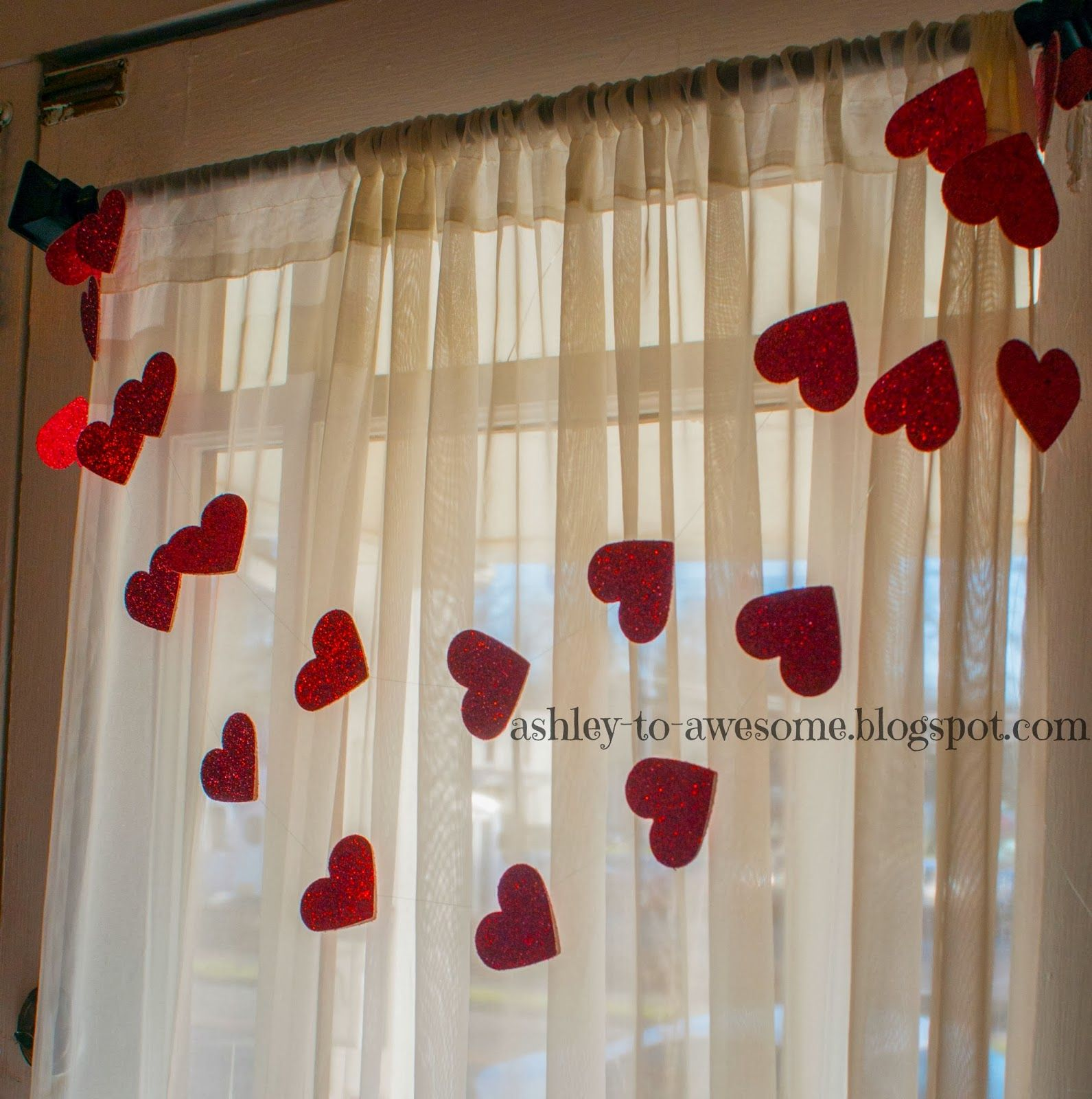 From Ashley to Awesome: DIY Heart Garland Tutorial