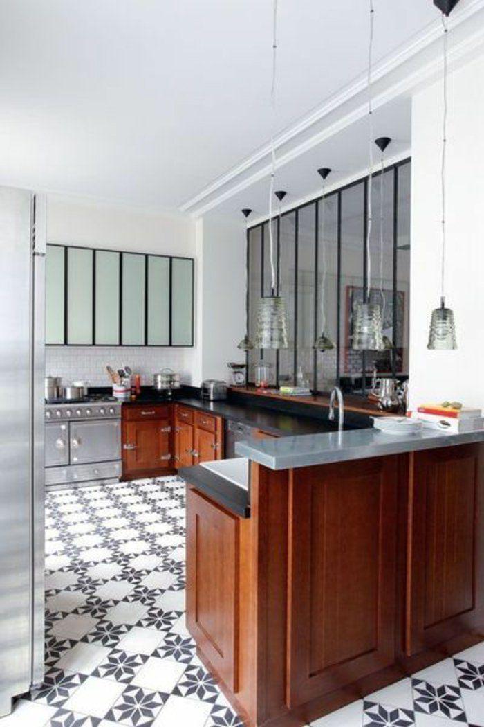 quels meubles de cuisine choisir pour la cuisine americaine - Cuisine Americaine Noir Et Blanc