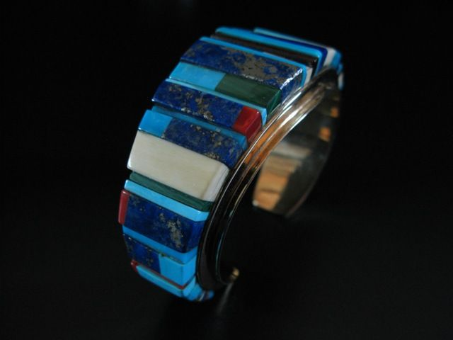 Artist unknown ~ Inlay cuff ~ via Abby Kent Flythe Fine Art