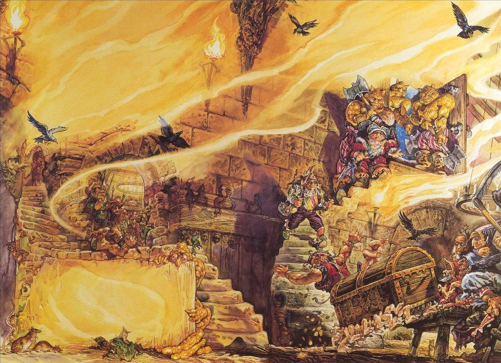 defenestrador cover of the colour of magic by josh kirby - The Color Of Magic Book
