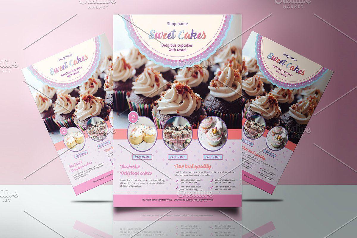 Cake shop flyer template v921