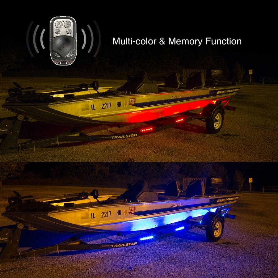 15 Color 144 Led Remote Control Kit Lights For Boat Trailer Boat Trailer Remote Control Boat Boat Plans