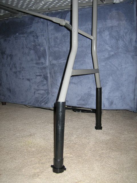 Raise The Height Of Your Table With PVC Pipe, Cheaper Than Bed Risers!