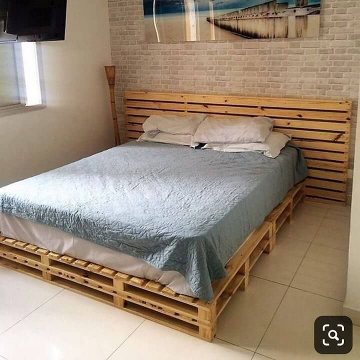 100 diy recycled pallet bed frame designs easy pallet