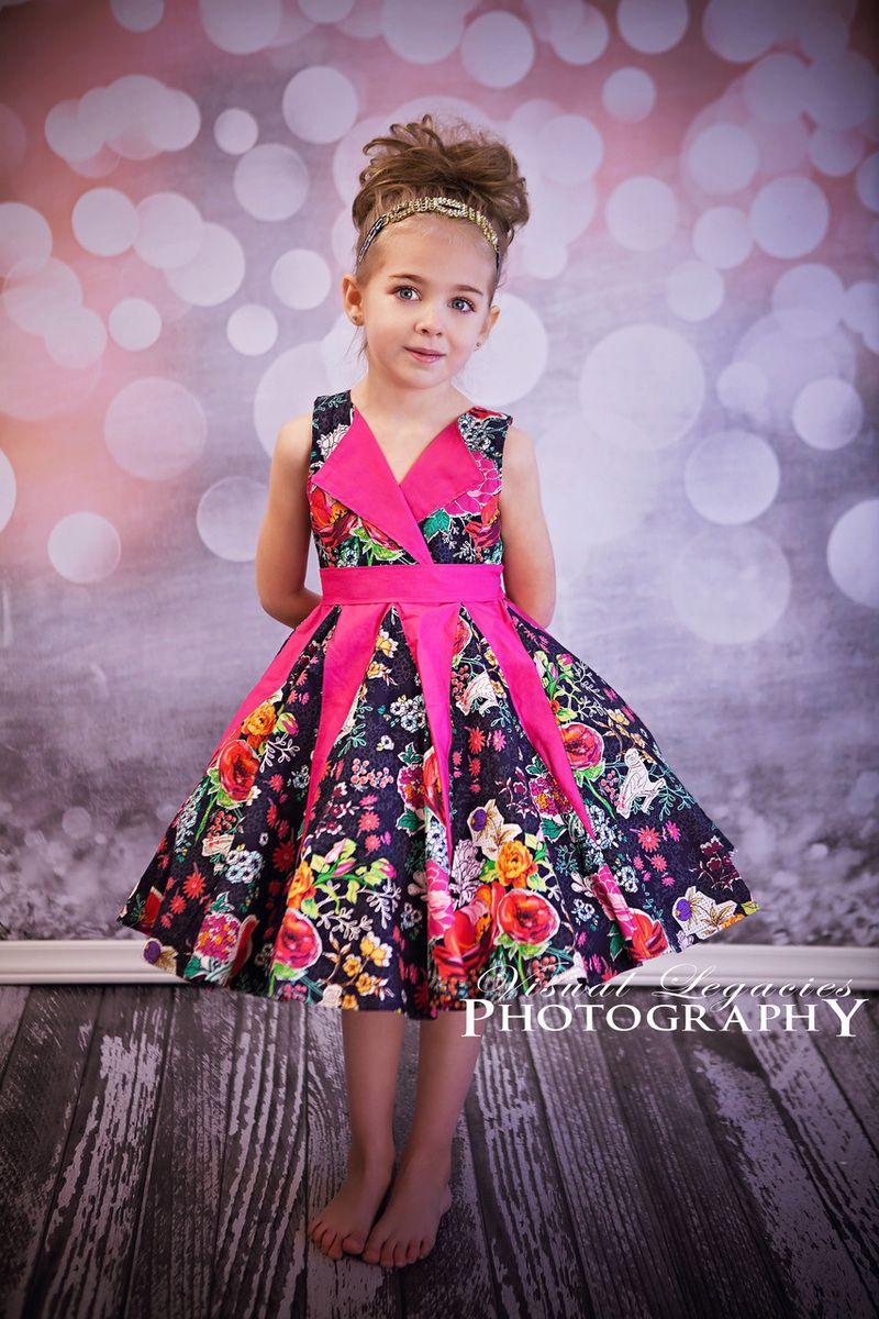 Sewing Pattern Girls Dress PDF Lilly\'s Lapel Party Dress   frock ...