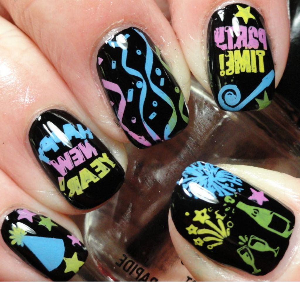 New Years Eve Finger Nail Designs - Nail Design Women Makeup   NEW ...