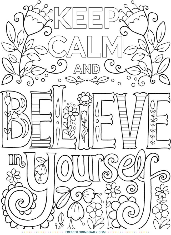 Free Keep Calm Coloring With Images Coloring Pages