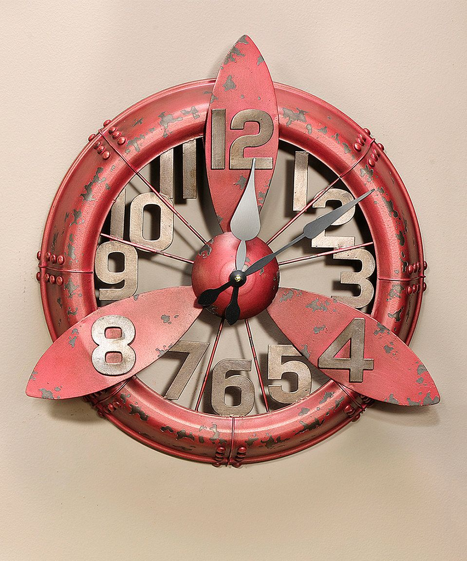 Airplane Propeller Wall Decor vintage airplane propeller wall clock | vintage airplanes
