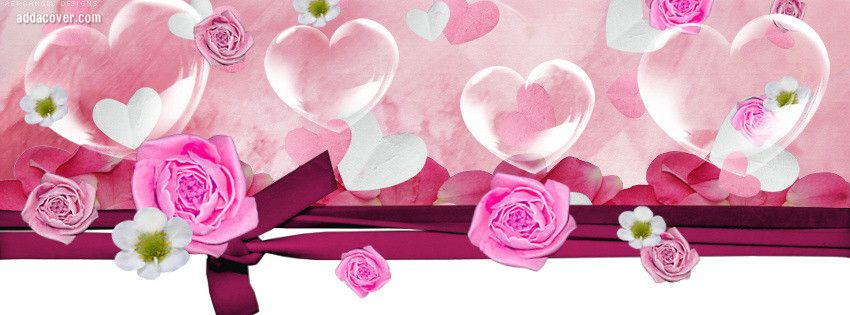 Hearts And Flowers Cover Photos For Facebook, Hearts And Flowers ...