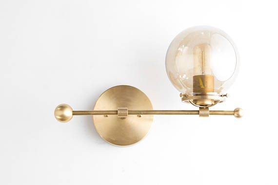 Modern Wall Sconce Brass Sconce Lights Mid Century Modern