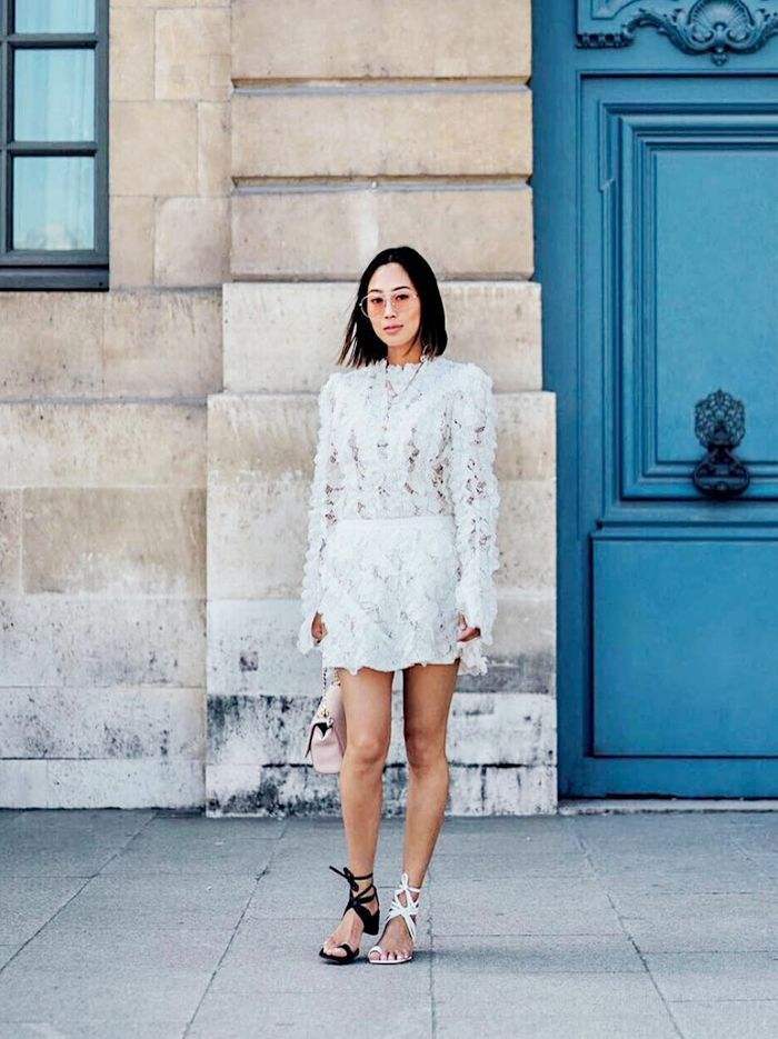 Fashion Girls Agree Lace Dresses Are The Coolest Summer Staple