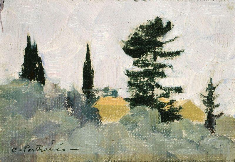 Kunstfotografie Kaufen kaufen gemälde landschaft mit cypress bäume konstantinos