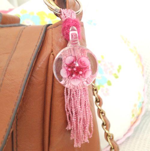 DIY Yarn Tassel Key Rings or Yarn Bag Charms