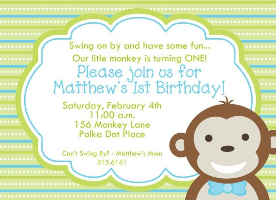 Little monkey boy first birthday invitation by cardsbycarolyn little monkey boy first birthday invitation by cardsbycarolyn filmwisefo Image collections