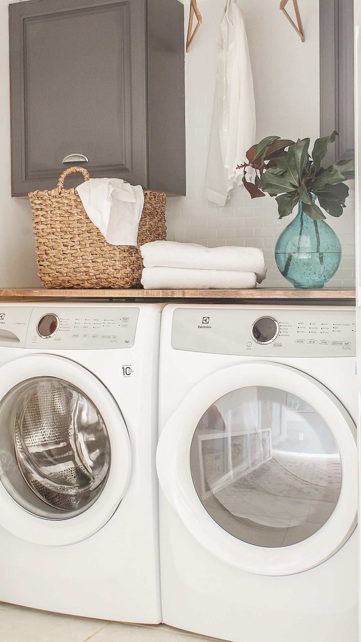 DIY Laundry Room Closet Makeover on the Cheap- Modern ...