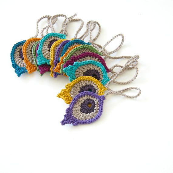 Crochet Motif PATTERN: Peacock Eye Feather PHOTO TUTORIAL - original ...