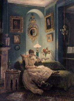 An Evening at Home(c.1877) Sir Edward John Poynter
