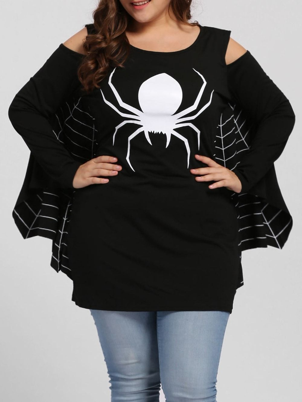 plus size spider batwing halloween costume