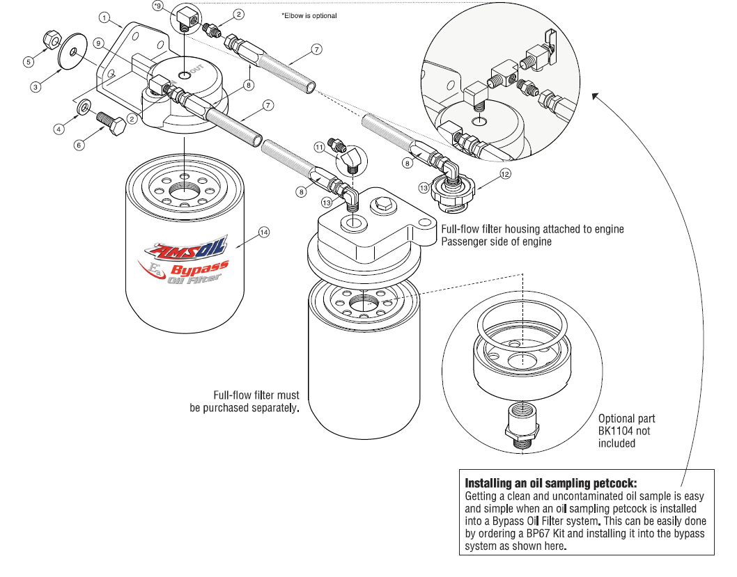 Cummins 5 9 6 7l Single Remote Oil Bypass System