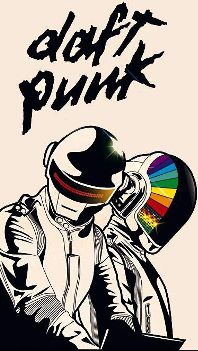 Music iPhone Wallpaper HD Daft Punk | Daft punk, Punk ...