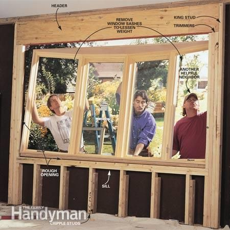 How to Install a Bow Window | Window How To Install A Bat Window on install trim around small window, crack a window, clean a window, fillers around window, framing around a window, framing 2x4 window,