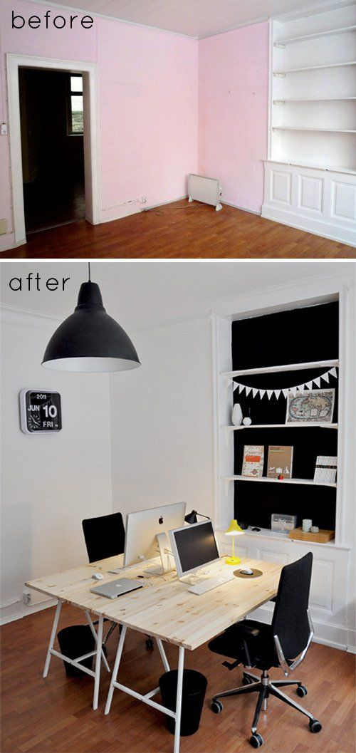 home office makeover pinterest. Beautiful Office 7 Gorgeous Office Makeovers On Home Makeover Pinterest