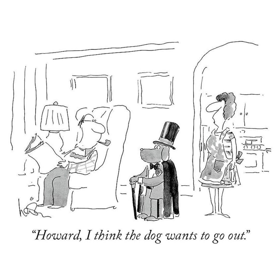 The New Yorker Cartoons On Instagram A Cartoon By Annie Levin Newyorkercartoons In 2020 Cartoon Posters New Yorker Cartoons Cartoon Dog