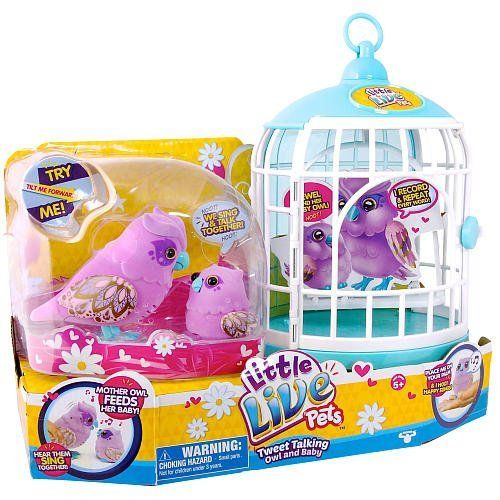 Little Live Pets Owl And Baby Bird With Cage Little Live Pets Http