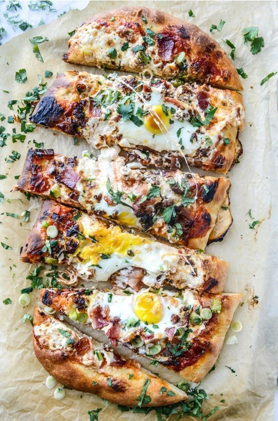Photo of Pizza for breakfast? Yes, please! This Burrata Breakfast Pizza is packed with cl…