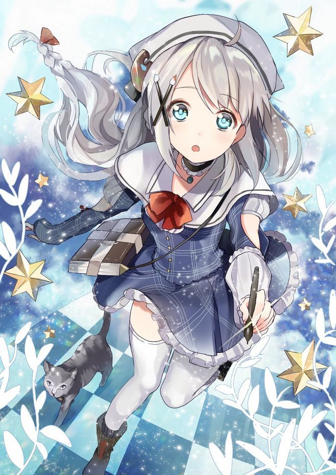 I love anime art, don't you? Let's meet this cute girl in