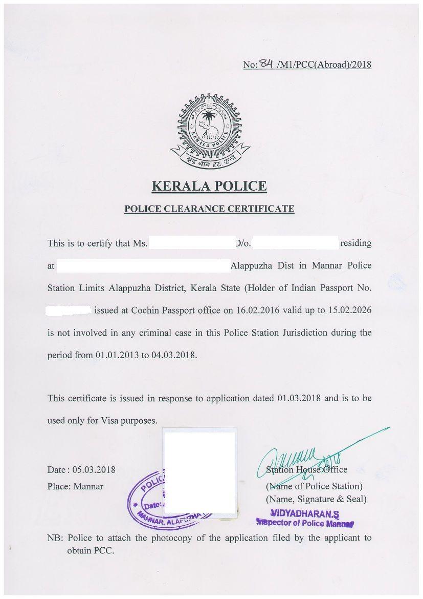 8 Police Clearance Certificate Templates Certificate Templates