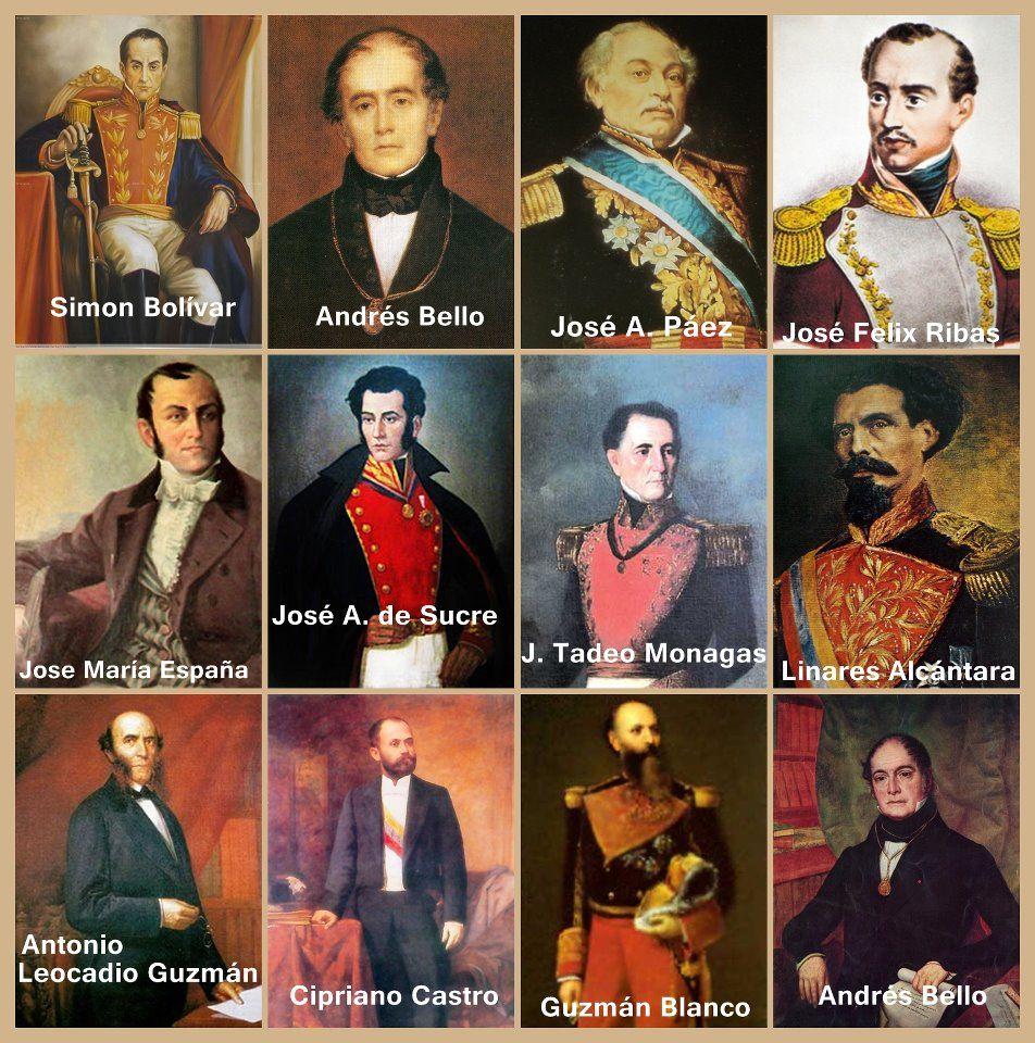 Personajes De La Historia De Venezuela Venezuela Venezuela Caracas