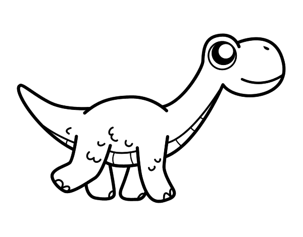 Dibujo De Diplodocus Feliz Para Colorear