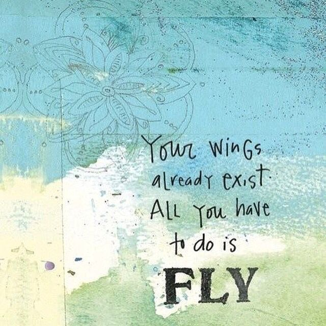 Your wings already exist, all you have to do is fly. You've got this. Take the leap. #leapyear