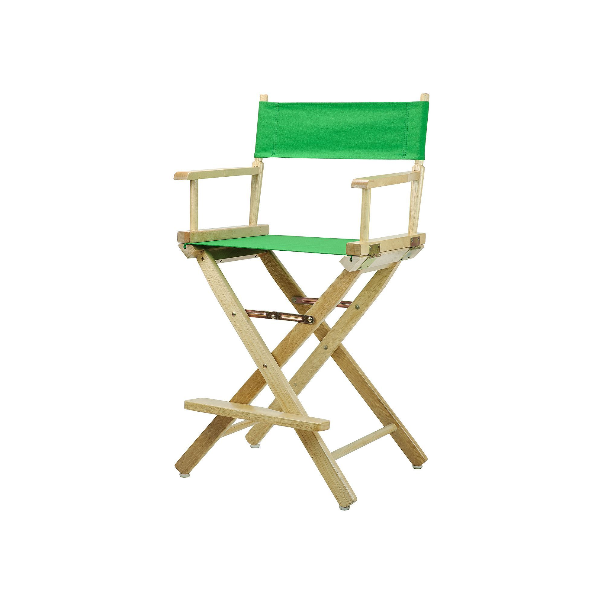 Casual Home 24 In Natural Finish Director S Chair Green