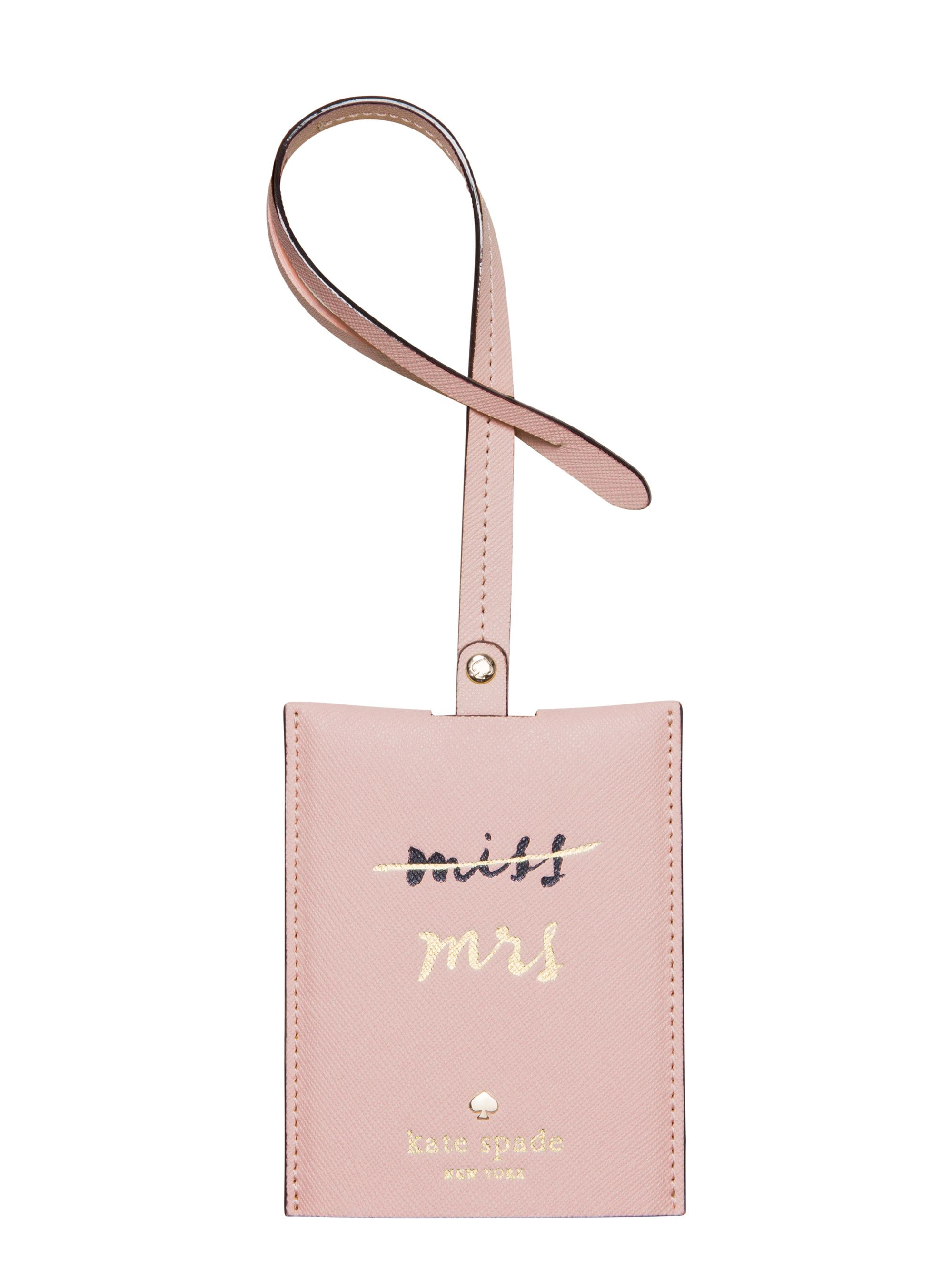 this chic leather luggage tag will help ensure that your suitcase ...