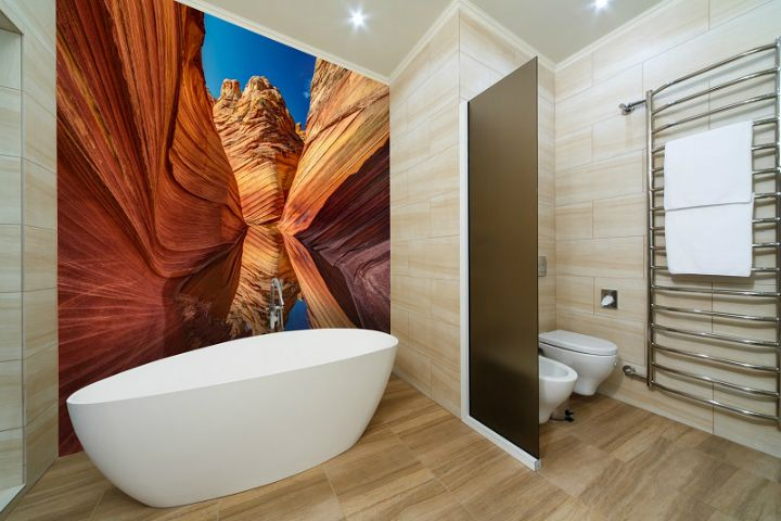Make Your Bathroom a Living Space Using Custom Wall Murals Custom